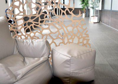 Dekorative Raumteiler aus Holz (MDF)