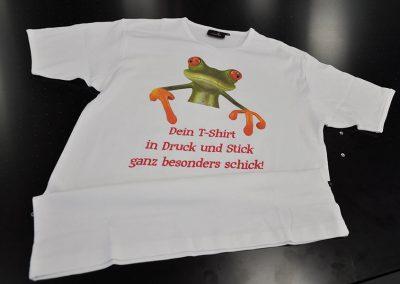Dein T-Shirt in Druck und Stick ganz besonders schick!