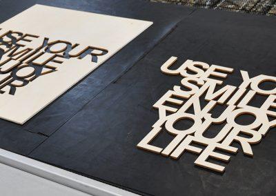 3D Schriftzug aus Holz