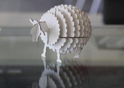 Laserschneiden von Pappe