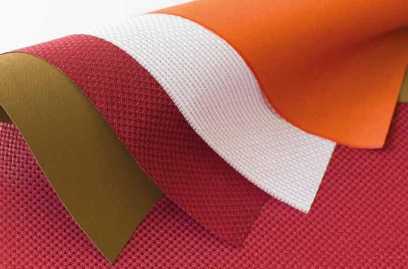 Verschiedene Arten von Textilien