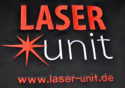 LASERunit Logo/ Bestickung