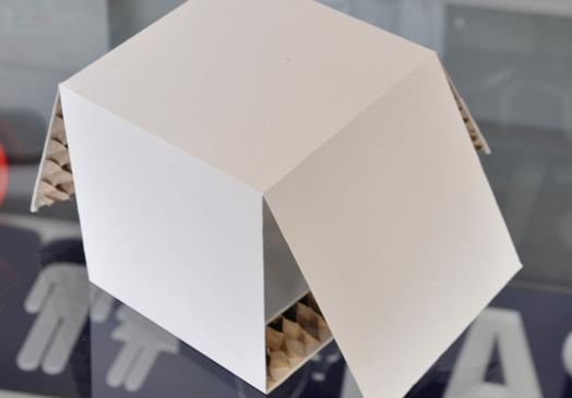Verpackung aus einer Wabenplatte bei LASERunit