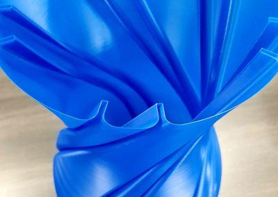 3D-Druck/ Vase/ Material PLA/ 580mm hoch/ 0,2mm Schichthöhe